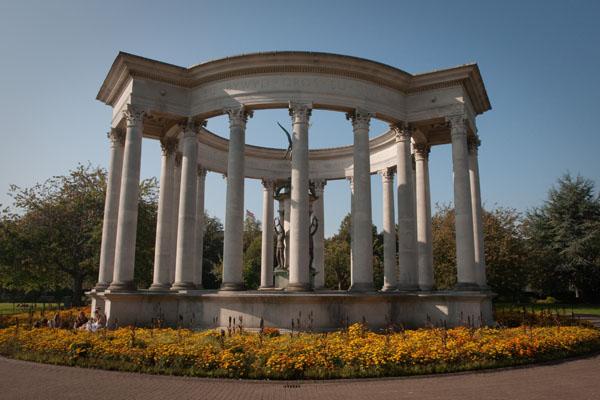 Mémorial dans le Parc Alexandra à cardiff