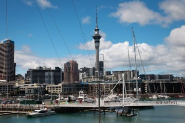 Port de Auckland / Nouvelle Zélande