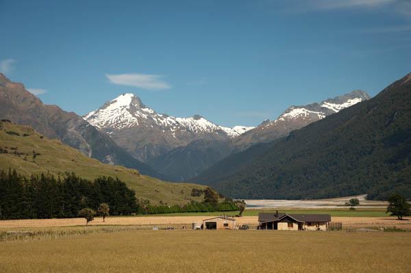 Une ferme au milieu de la Nouvelle-Zélande région de wanaka