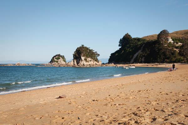 Kaiterteri Beach sur Tasman Bay en Nouvelle Zélande