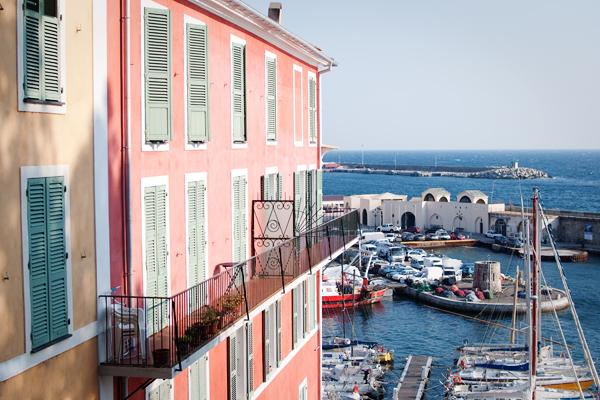 Le vieux port de Bastia depuis la Citadelle
