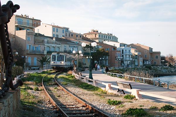 Front de mer à Ile Rousse en Corse