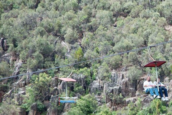 Télésiège à la plus longue portée du monde en tasmanie