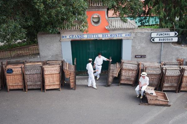 départ des carros de cesto de Funchal
