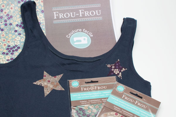 Customise t-shirt avec du liberty chez Truffaut