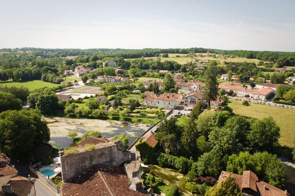 Point de vue depuis le donjon du Château de Bourdeilles