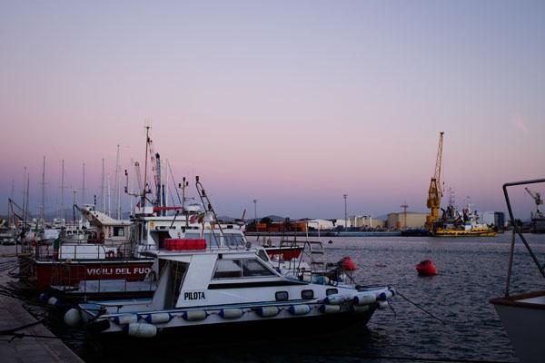 Port de Trapani en Sicile
