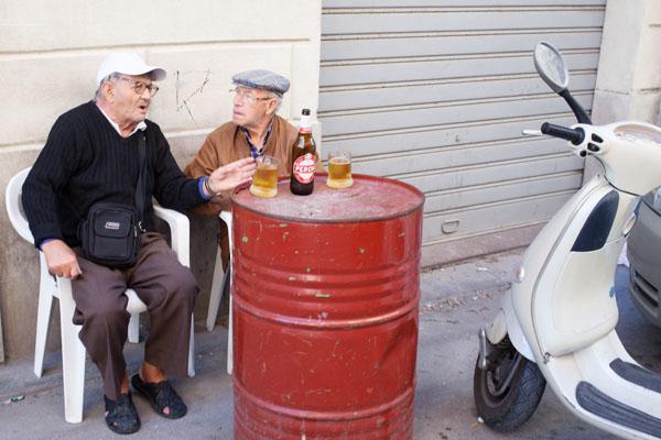 Habitants de Trapani, Sicile