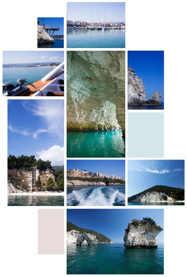 Gargano - Balade en bateau de Vieste sur la mer Adriatique