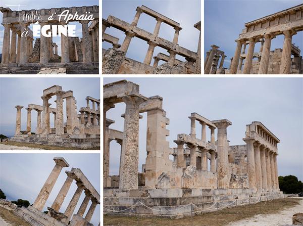 Le temple d'Aphaia sur l'île d'Egine