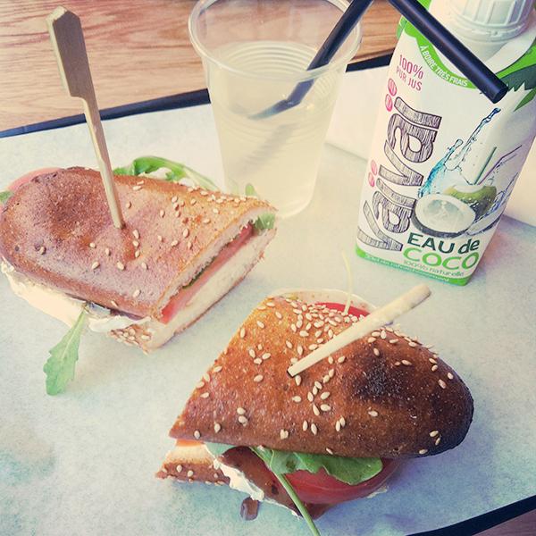 Sandwiche Rocking Chèvre chez Bears and Raccoons sans gluten Paris