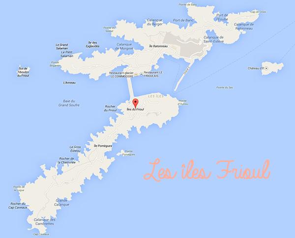 Plan îles Frioul