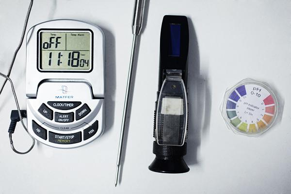 Alchimiste - Mesure du sucre et du PH