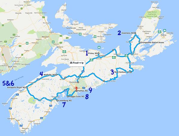 Itinéraire road-trip en Nouvelle-Ecosse