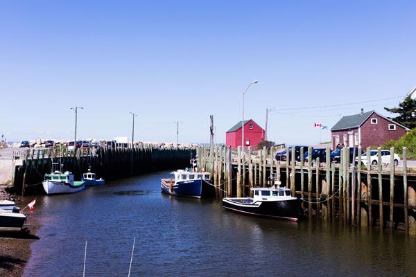 Hall's Harbour marée descendante
