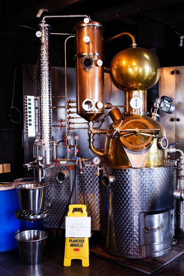 Distillerie vodka ironworks à Lunenburg