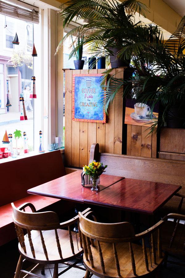 Laughing whale coffee shop Lunenburg Nova Scotia