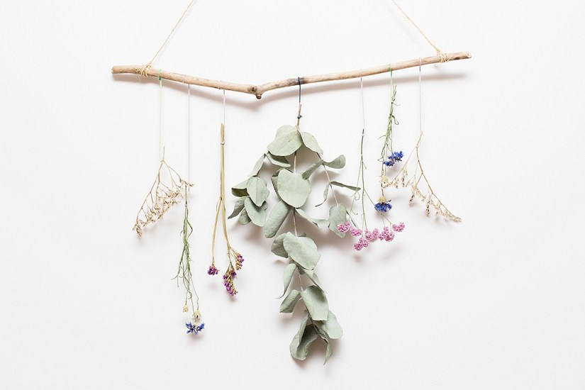 DIY suspension florale
