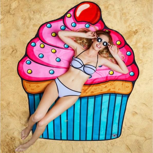 Serviette de plage Cupcake