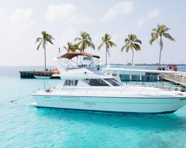 Maldivian style sunset fishing Dhigali Maldives