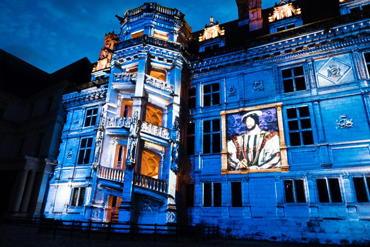 Son & Lumière au chateau de Blois