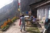 village de Sherpagaon, rive gauche de la Langtang Khola