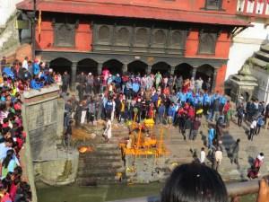 Népal, Pashupahinath, crémation