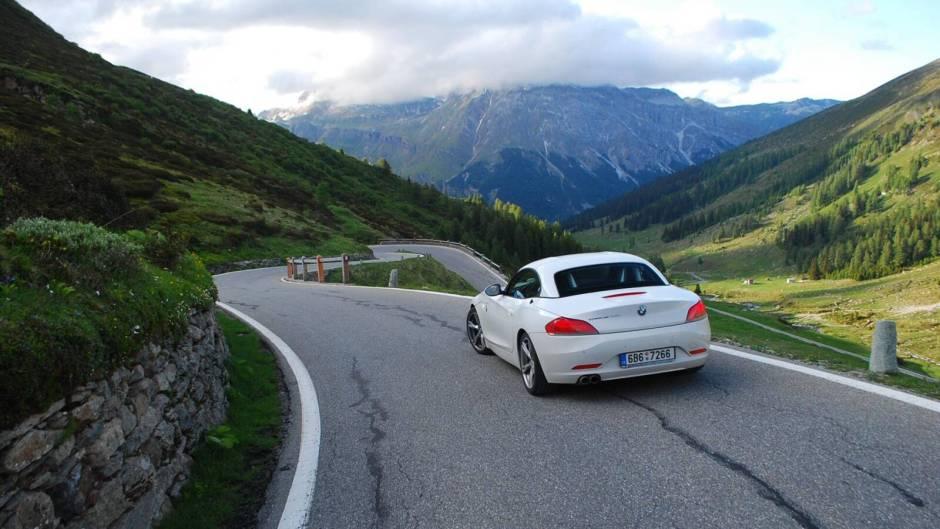 Splügen Pass a bmw Z4