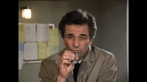 Unnachahmlicher Blick: Peter Falk als Columbo (Screenshot aus: http://vimeo.com/30281164)