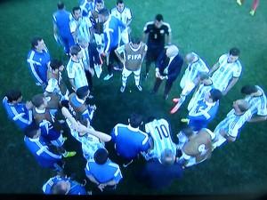 Als es mal wieder in die Verlängerung ging - hier das Team aus Argentinien. (Foto: abgeknipst vom TV-Bildschirm)
