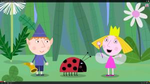 """Ben und Holly im Vorspann einer Episode von """"Ben & Holly's Little Kinddom"""". (Screenshot aus: http://www.youtube.com/watch?v=NSwNiZidAbA)"""