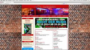 Screenshot der Internetseite http://www.lindenbrauerei.de