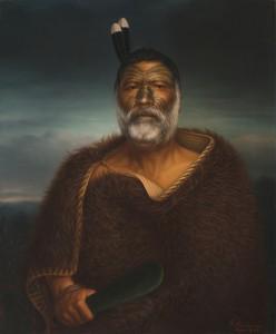 Gottfried Lindauer: Eru Tamaikoha Te Ariari, 1903 (Öl auf Leinwand). Auckland Art Gallery Toi o Tämaki, Geschenk von H. E. Partridge, 1915.