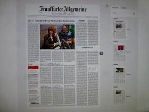 Die FAZ-Titelseite vom 6. Januar 2016