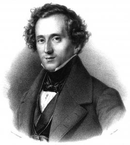 Felix Mendelssohn-Bartholdy in einer Lithografie von Friedrich Jentzen aus dem Jahr 1837.