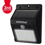 Mpow, Lámpara Solar 8 LED