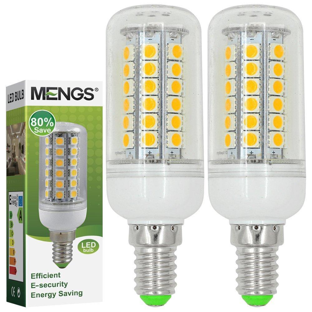 MENGS® Pack de 2 Bombilla lámpara LED 7 Watt E14