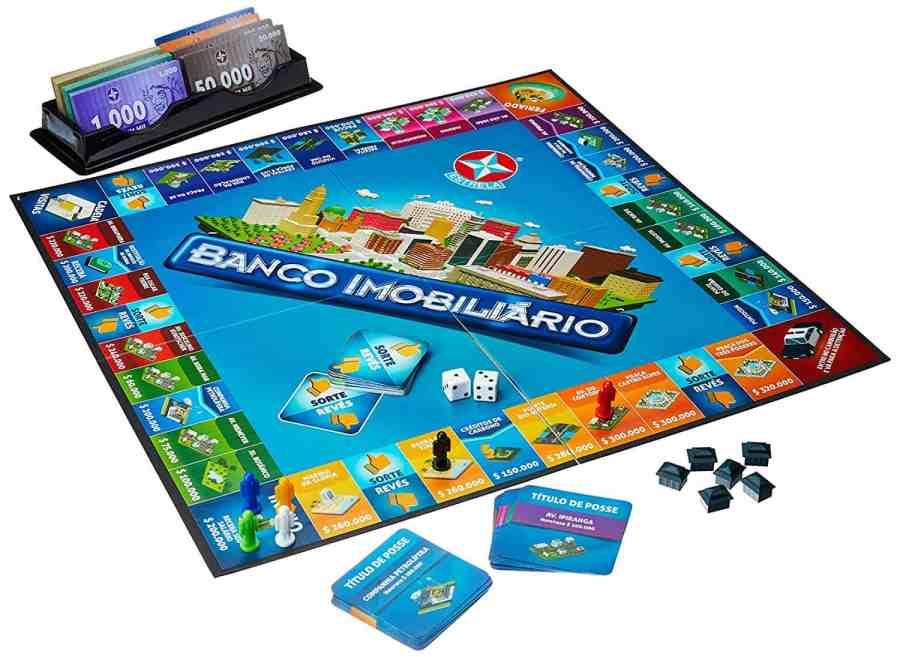 imagem de um jogo Banco Imobiliário.