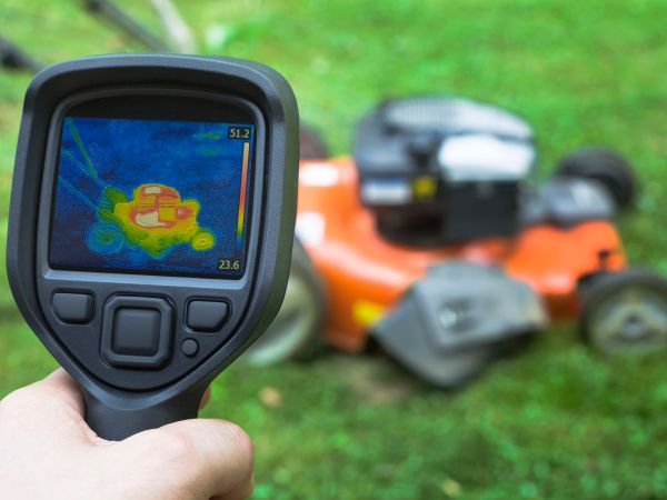 thermal image of Lawnmower