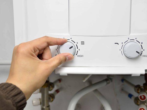 Un boiler in primo piano