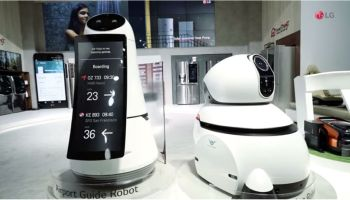 LG Airport Robot Introduced at Incheon International Airport, Seoul