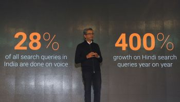 Rajan Anandan, VP, South East Asia talking about user statistics