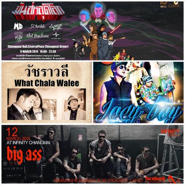 คอนเสิร์ตและปาร์ตี้เชียงใหม่ตลอดเดือนมีนาคม 2557