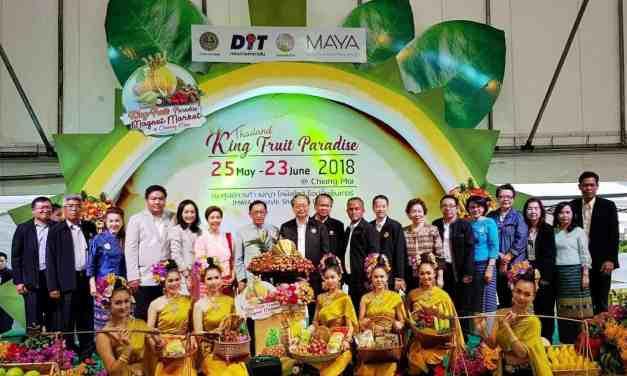 """กระทรวงพาณิชย์ จัดงาน """"Thailand King Fruit paradise Magnet Market @Chiang Mai"""" กระตุ้นการบริโภคผลไม้แก่นักท่องเที่ยวจีนมากขึ้น"""