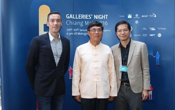 """ภาพแถลงข่าวกิจกรรม """"Galleries' nights Chiang Mai  2016"""""""