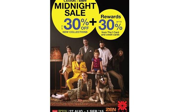 """ช้อปจุใจกับสินค้าราคาพิเศษ ในค่ำคืนที่ทุกคนรอคอย """"Central ZEN Midnight Sale 2015"""""""