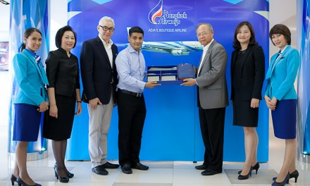 Bangkok Airways Thank you to FlyerBonus' Half-Million Miler!