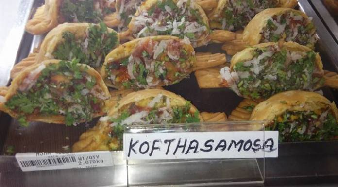 Koftha Samosa @ Asha Sweet Center, JP Nagar near RV Dental College or next to Cakewala