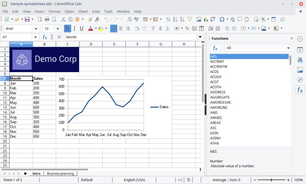 Bảng tính LibreOffice Calc