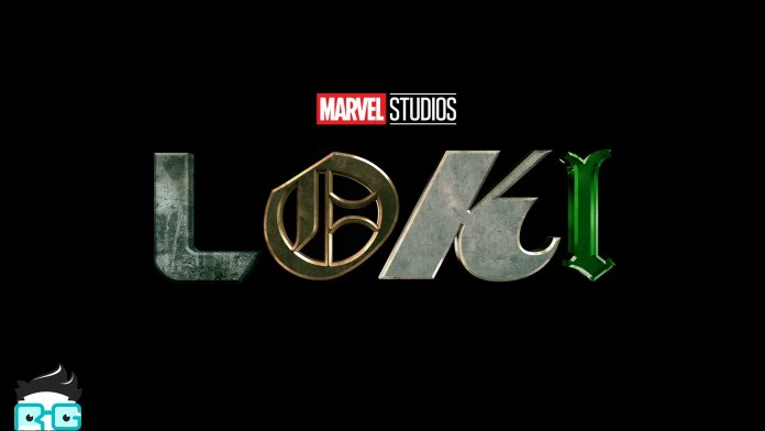The Loki logo on a black background, with the Review Geek mascot peaking in.